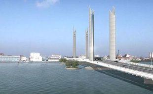 Projet du futur pont Bacalan-Bastide.