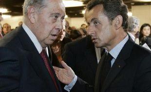 Charles Pasqua et Nicolas Sarkozy le 30 juin 2009 à Paris