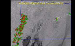Un essaim de 103 drones testés par le Pentagone.