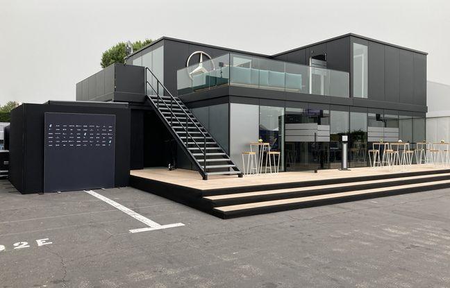 Le paddock de Mercedes avec sa terrasse privative