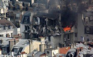 Une explosion due au gaz dans un immeuble du centre de Paris.