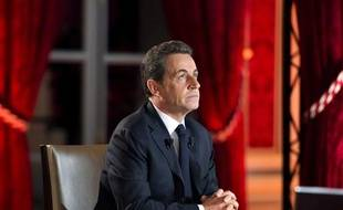Nicolas Sarkozy lors de son intervention télévisée du 29 janvier 2012.
