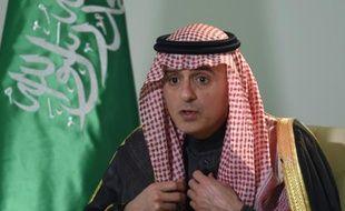 Le ministre saoudien des Affaires étrangères,  Adel al-Jubeir, lors d'une interview le 18 février 2016 à l'AFP, à Ryad
