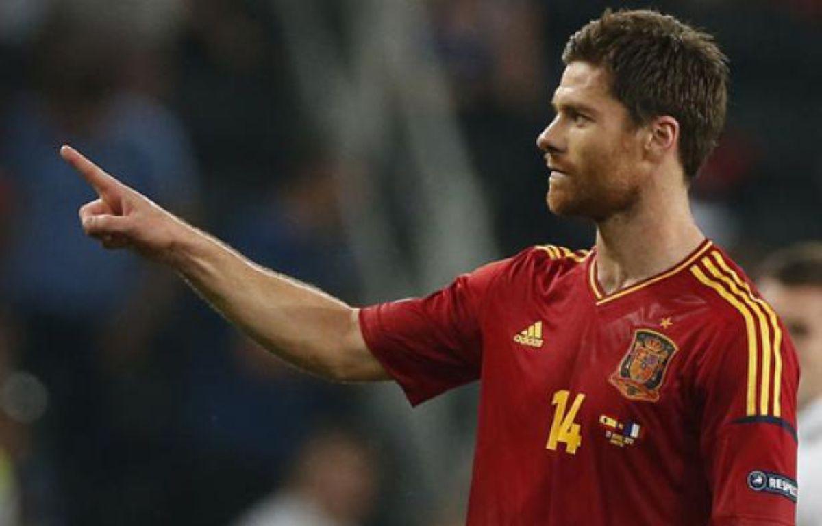 L'Espagnol, Xabi Alonso, auteur d'un doublé contre la France, le 23 juin 2012 à Donetsk. – J.Medina / REUTERS