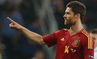 L'Espagnol, Xabi Alonso, auteur d'un doublé contre la France, le 23 juin 2012 à Donetsk.