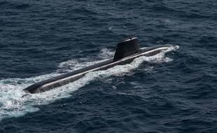 Le sous-marin français Le Suffren, le 5 juillet 2020.