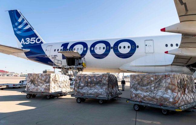 Coronavirus: Un Airbus ramène en Europe quatre millions de masques depuis la Chine