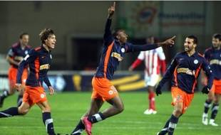 Explosion de joie pour le jeune Fodé Koita qui marque un magnifique but, son premier.
