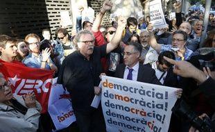 Des militants indépendantistes catalans