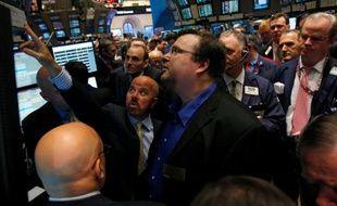 Le fondateur du réseau social profesionnel LinkedIn, Reid Garrett Hoffman, à Wall Street, le 19 mai 2011 pour l'introduction en Bourse de l'entreprise.