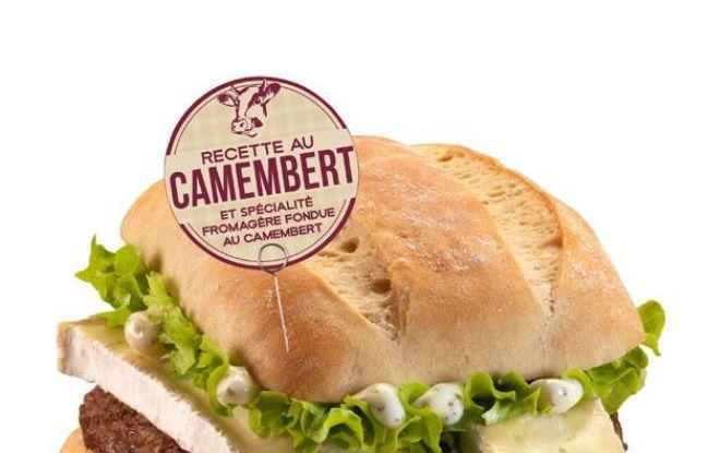 Le sandwich au camembert, proposé par Mc Donald's lors de l'opération «Grandes envies de fromage», le 8 février 2013.