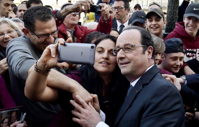 Qui a dit que François Hollande n'était pas populaire? Samedi 11 mars à Libourne.