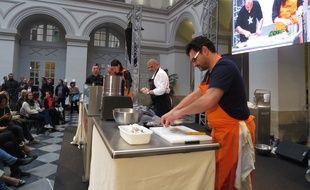 Des démonstrations culinaires étaient organisées lors de Bordeaux S.O Good.