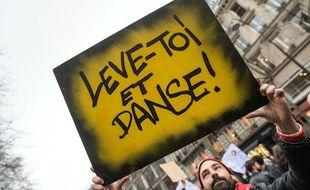 Manifestation du monde de la culture, à Paris, le 4 mars 2021.