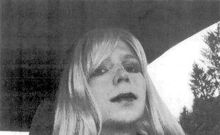 Photographie non datée de la militaire Chelsea Manning, de son vrai nom Bradley Manning, incarcérée après avoir fourni des documents militaires à WikiLeaks.