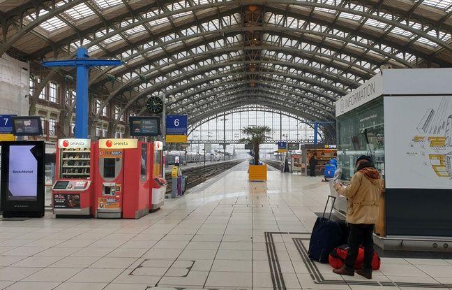 La gare de Lille lors de la grève du 5 décembre.