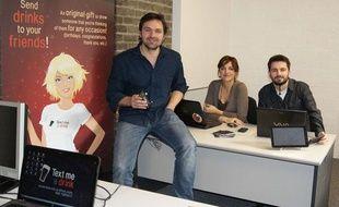 Text Me A Drink, une start-up web basée à Dublin lancée en 2012.
