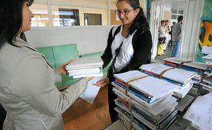 Au lycée Carcouët, les commandes ont été reçues dès le mois de juillet pour être remises aux élèves à la rentrée.