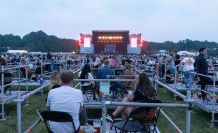 Le concert de Sam Fender à Newcastle, au Royaume-Uni, le 11 août 2020.
