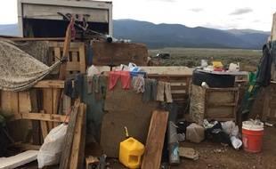 Le taudis où étaient retenus les 11 enfants «qui ressemblaient à des réfugiés du Tiers-monde» à Amalia (Nouveau-Mexique), le 4 août 2018.