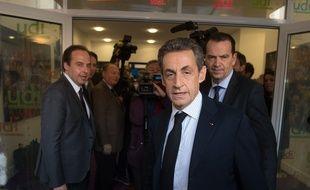 Nicolas Sarkozy, président de l'UMP, le 23 mars 2015 à Paris.