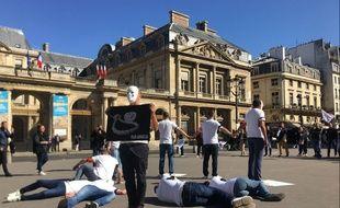 Environ 200 agents ont manifesté ce mardi à Paris à l'appel du syndicat Unité-SGP Police