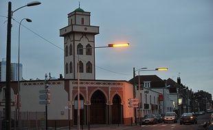 La mosquée à Mons-en-Baroeul (Nord).