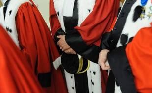 Des magistrats, le 11 janvier 2012, au Palais de justice de Paris.