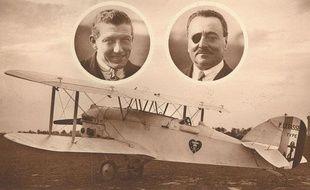 Les Français Charles Nungesser et Francois Coli ont disparu avec leur avion, l'Oiseau blanc, le 8 mai 1927.