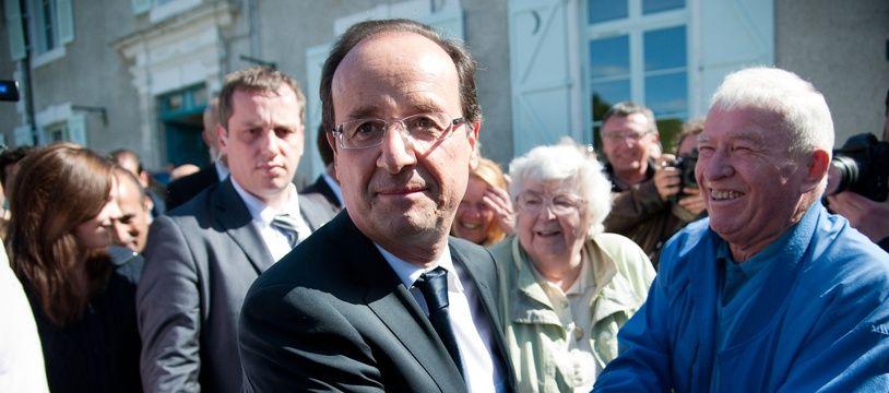 François Hollande à Tulle, le jour du second tour de l'élection présidentielle de 2012.