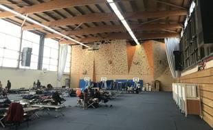 Quelque 89 familles ont été mises à l'abri au stade Jean Bouin (dans le 16e arrondissement), au lendemain de l'évacuation du camp de migrants de Porte de la Chapelle, à Paris.