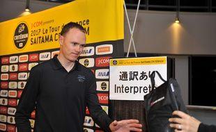 Chris Froome sur le Critérium de Saitama, au Japon, le 3 novembre 2017.