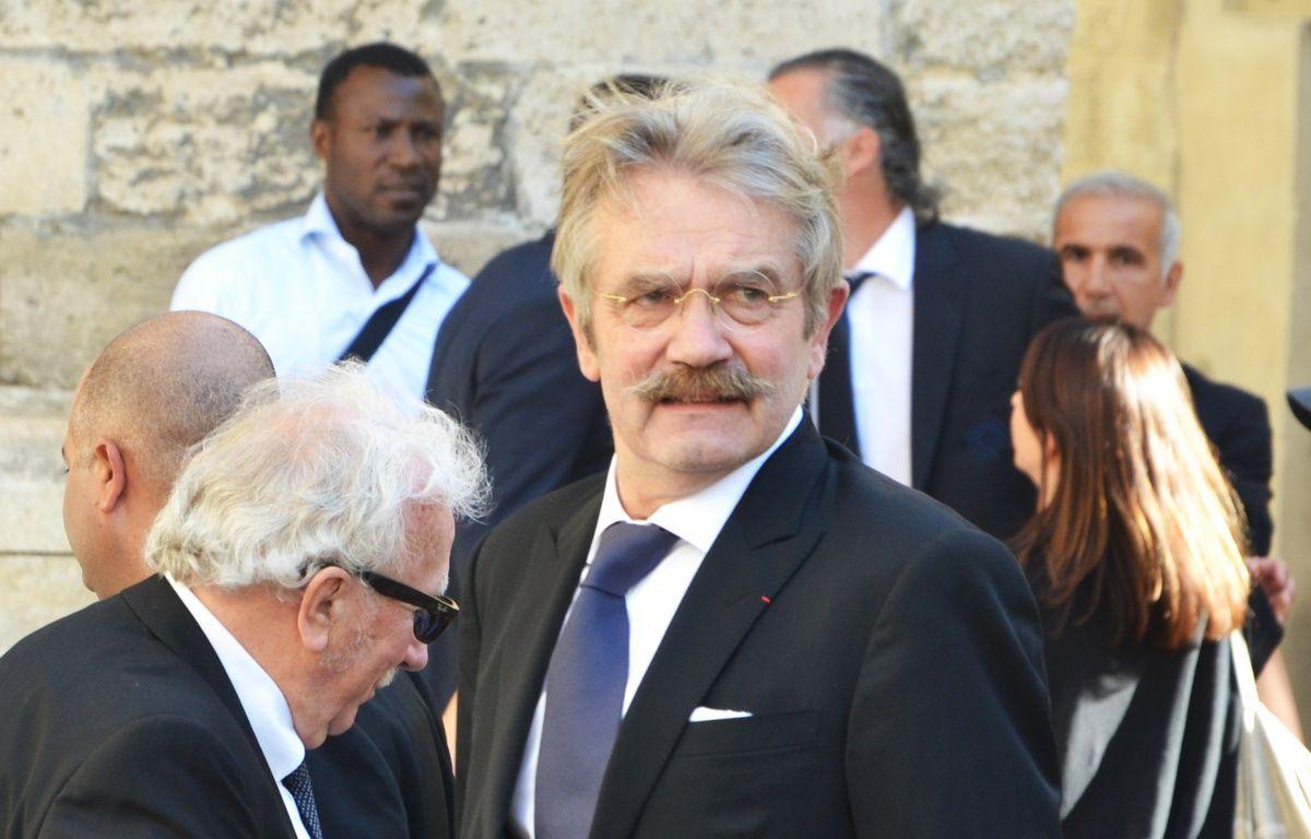 Frédéric Thiriez, ancien président de la LFP, aux obsèques de Louis Nicollin. – N. Bonzom / Maxele Presse