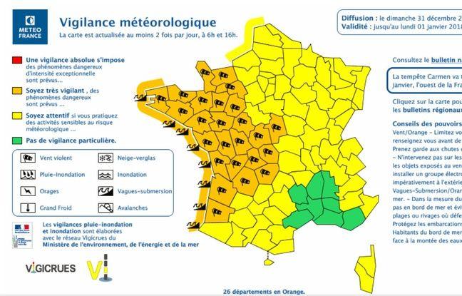 Météo France a placé de nombreux départements en vigilance orange.