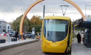 Mulhouse, le 7 octobre 2015. - Tramway à Mulhouse. (Illustration)