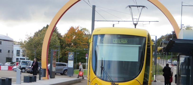 Le tram, comme les bus et les tram-trains, seront gratuits à Mulhouse ce samedi et ce dimanche. Illustration