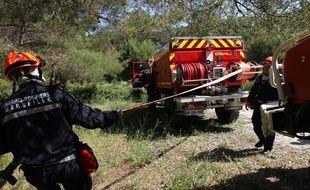 Des pompiers dans les calanques (photo d'illustration).