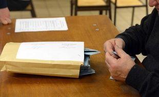 Illustration d'un bureau de vote
