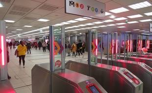 Transpole est en train d'équiper ses stations de métro de portiques de sécurité.