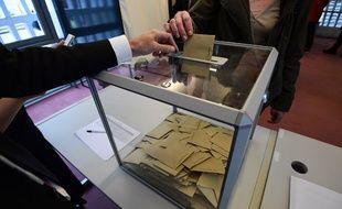 Un Français établi à Berlin vote lors du second tour de l'élection présidentielle, le 7 mai 2017.