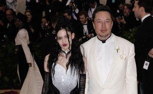 L'artiste Grimes et le co-fondateur de Telsa, Elon Musk