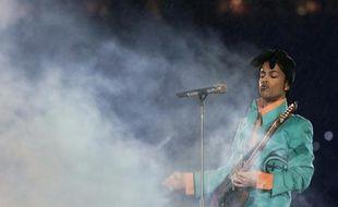 Prince sur scène le 4 février 2007 à Miami