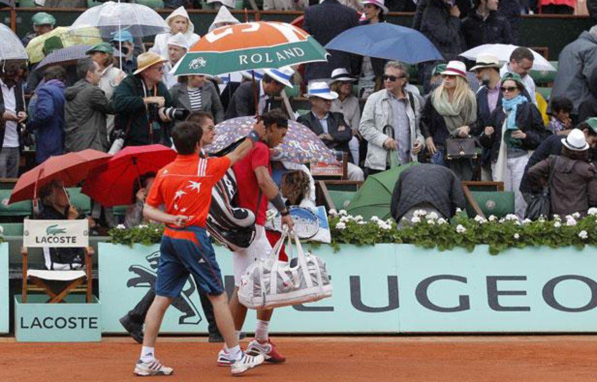 L'Espagnol Rafael Nadal, lors de sa finale à Roland-Garros, le 10 juin 2012. – REUTERS