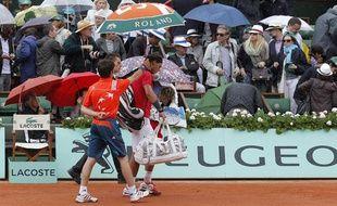 L'Espagnol Rafael Nadal, lors de sa finale à Roland-Garros, le 10 juin 2012.