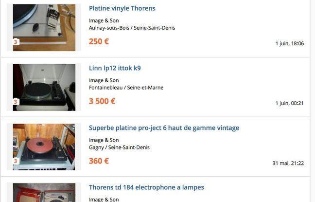 Les offres de platines d'occasion affluent à tous les prix sur Le Bon Coin.