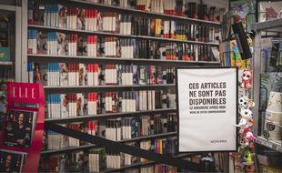 Les clients n'ont plus accès au rayon librairie dans ce Monoprix de Nice.