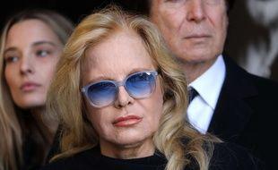 Sylvie Vartan après la cérémonie en hommage à Johnny, à Paris le 9 décembre 2017.