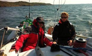 Olivier Ducruix et Mathieu Simonnet en pleine navigation.