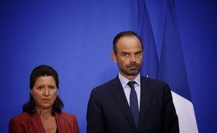 Agnès Buzyn, ministre de la Sante, et Edouard Philippe, Premier ministre, place Beauvau le 6 septembre 2017.