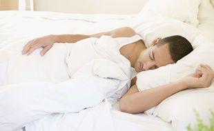 Illustration d'un homme en train de dormir.